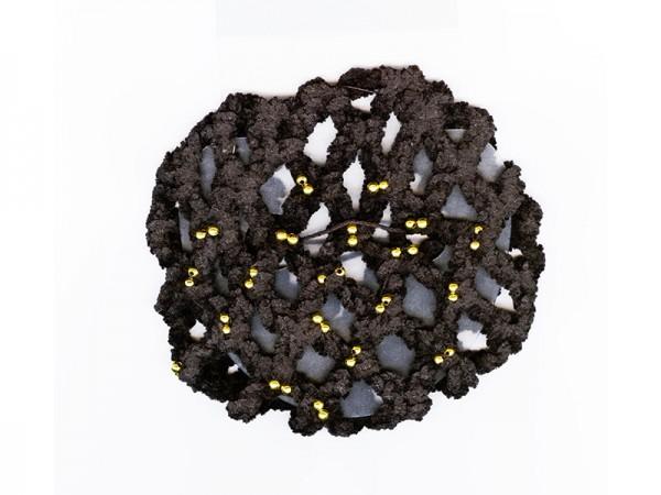 Chenille-Knotennetz mit Goldperlen